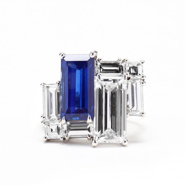 important-platinum-kashmir-sapphire-and-diamond-ring