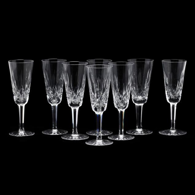 waterford-eight-lismore-crystal-champagne-flutes