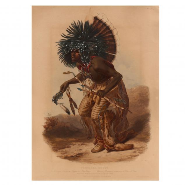 karl-bodmer-american-swiss-1809-1893-i-pehriska-ruhpa-moennitarri-warrior-in-the-costume-of-the-dog-danse-i