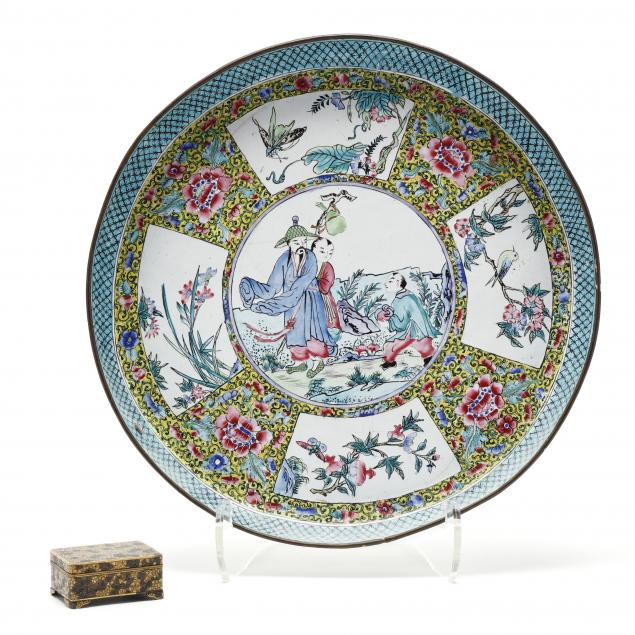 a-japanese-mixed-metals-box-and-a-chinese-canton-enamel-tray