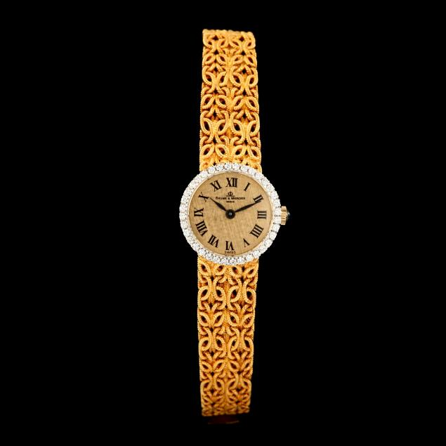 lady-s-18kt-gold-and-diamond-watch-baume-mercier