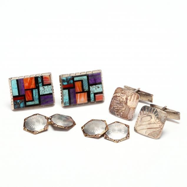 three-pairs-of-cufflinks