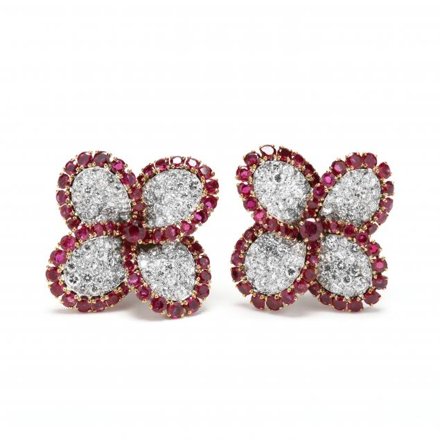 platinum-and-18kt-gold-diamond-and-ruby-earrings-french