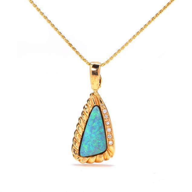 14kt-gold-opal-and-diamond-pendant