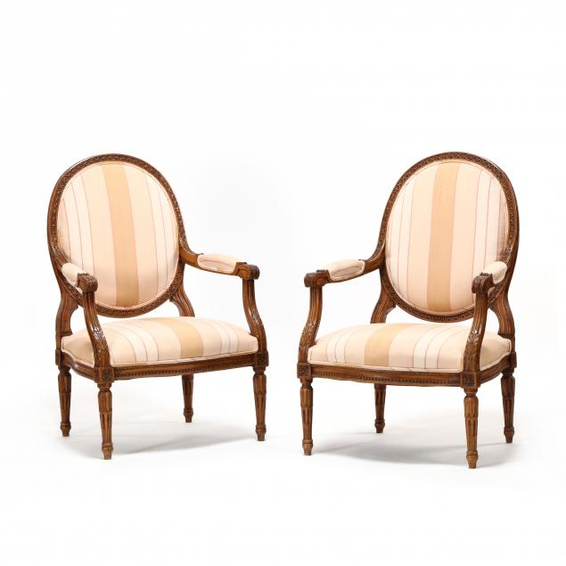 pair-of-louis-xvi-style-carved-and-upholstered-fauteuils
