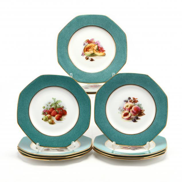 set-of-eleven-royal-doulton-fruit-plates