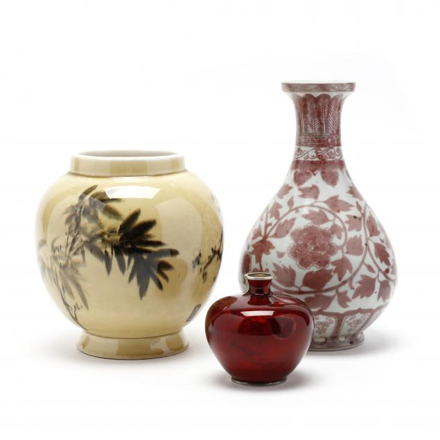 three-asian-vases