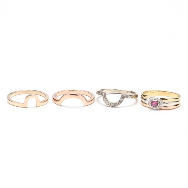 group-of-gold-and-diamond-rings