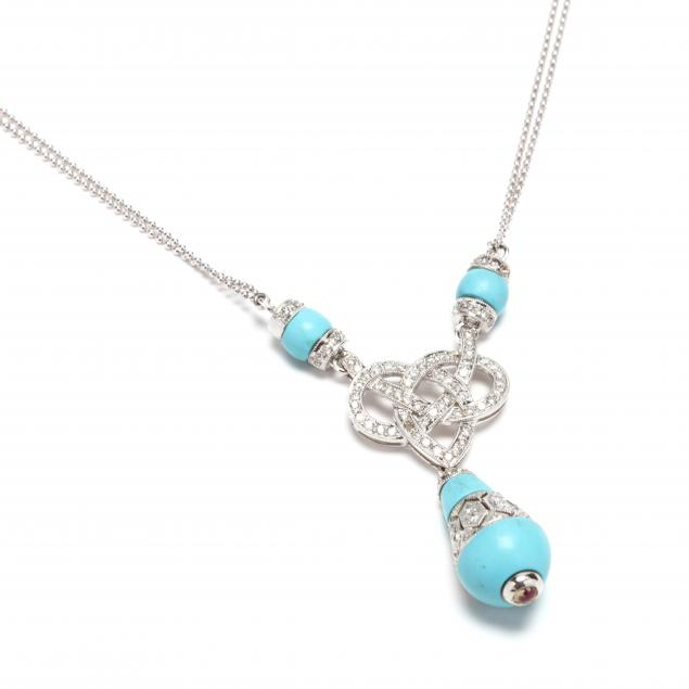 18kt-white-gold-turquoise-and-diamond-necklace