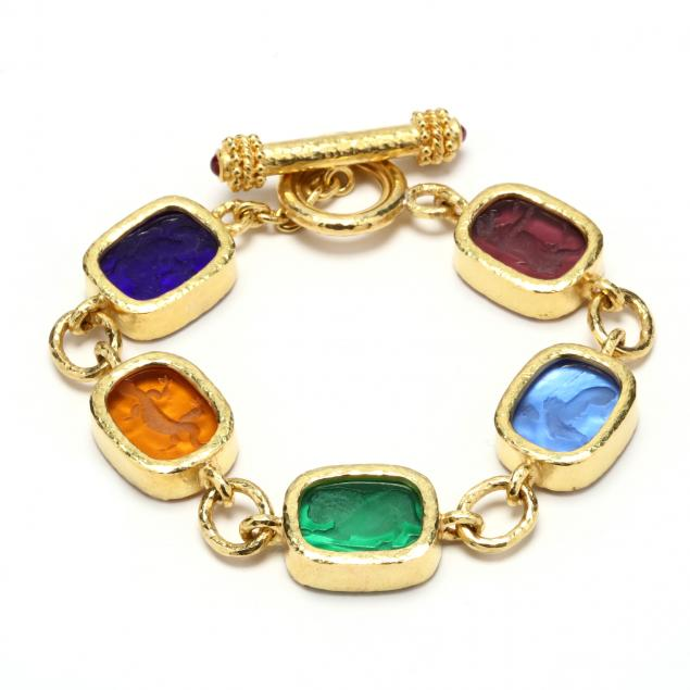 18kt-gold-and-venetian-glass-bracelet-elizabeth-locke