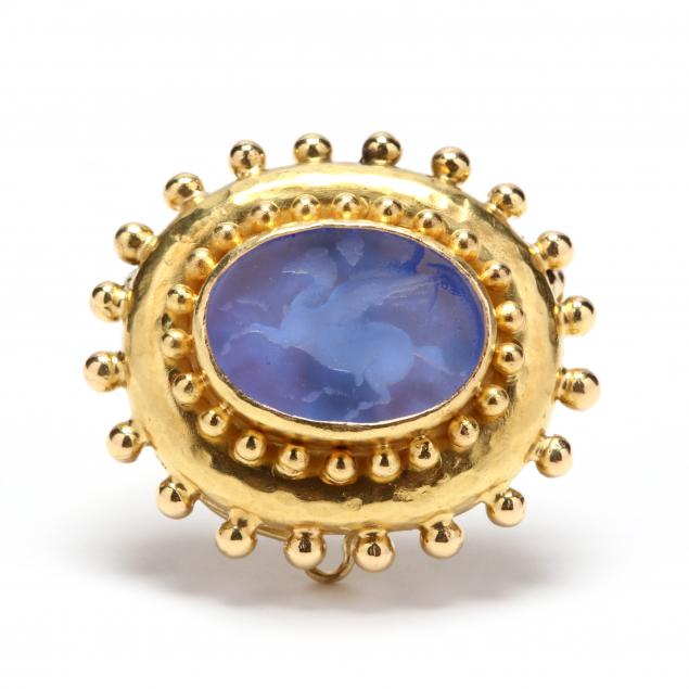 18kt-gold-and-venetian-glass-brooch-pendant-elizabeth-locke