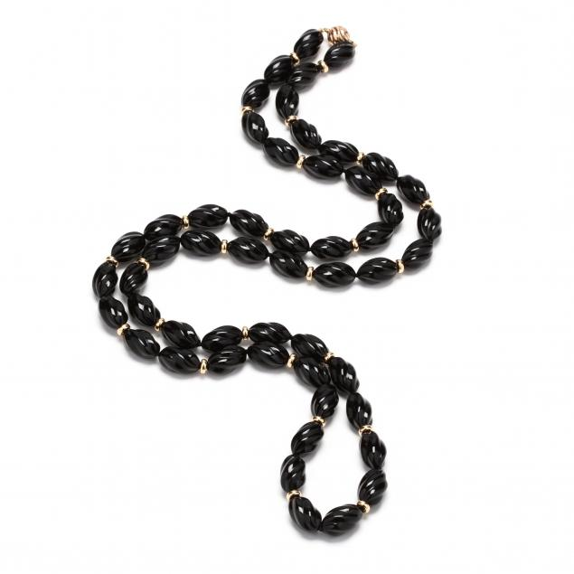 14kt-gold-and-onyx-bead-necklace