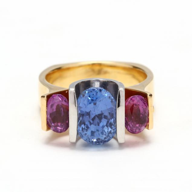 gold-and-platinum-three-stone-sapphire-ring
