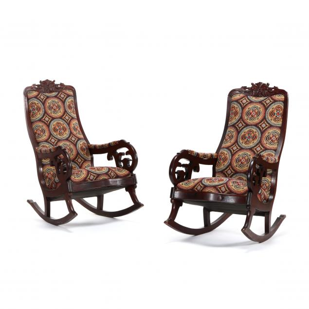 thomas-day-pair-of-carved-mahogany-rocking-chairs