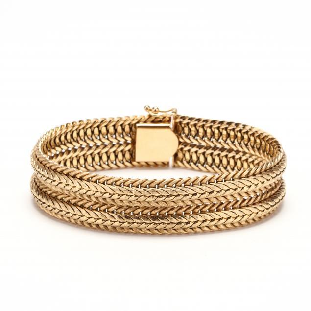 14kt-gold-bracelet-signed
