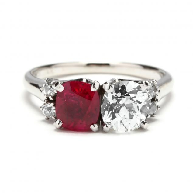 14kt-white-gold-diamond-and-synthetic-ruby-ring-grogan