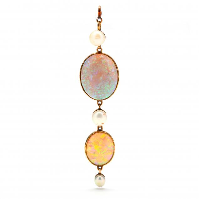 vintage-gold-opal-and-pearl-pendant