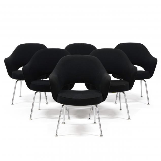 eero-saarinen-finnish-american-1910-1961-set-of-six-executive-armchairs