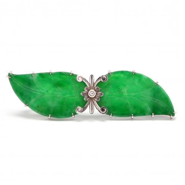 platinum-jadeite-brooch