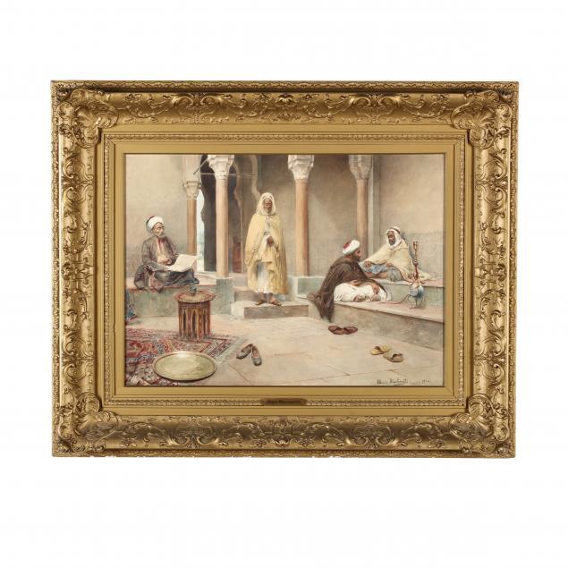 maria-martinetti-italian-1864-1921-men-in-an-arabic-courtyard