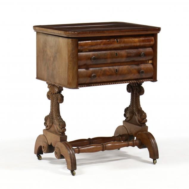 american-classical-carved-mahogany-work-table