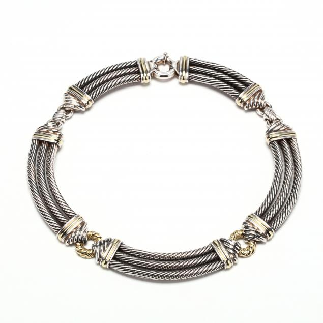 sterling-silver-and-14kt-gold-choker-david-yurman