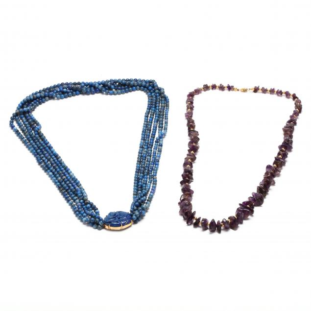 lapis-and-amethyst-bead-necklaces