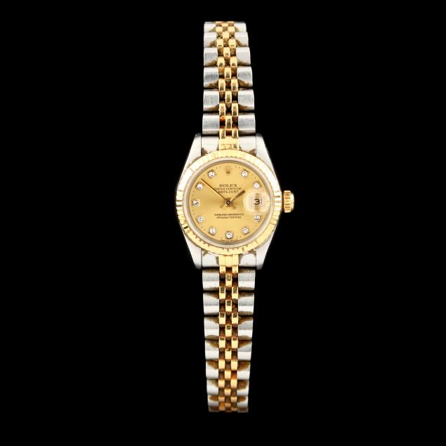lady-s-two-tone-oyster-perpetual-datejust-watch-rolex