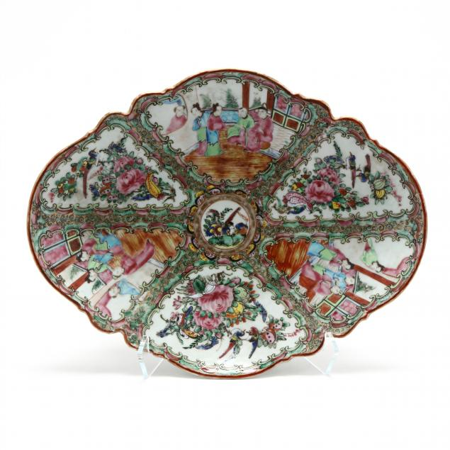 chinese-export-rose-mandarin-footed-shaped-serving-dish