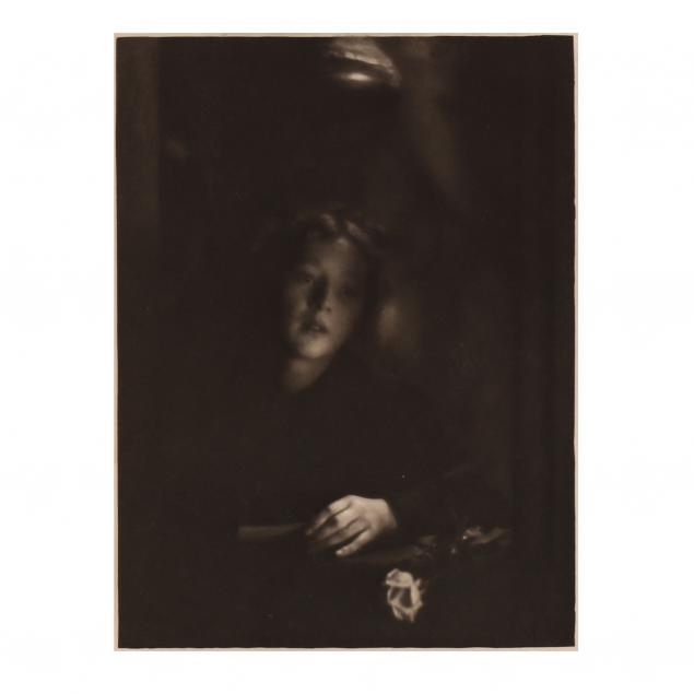 clarence-white-american-1871-1925-girl-with-rose-from-i-camera-work-23-i