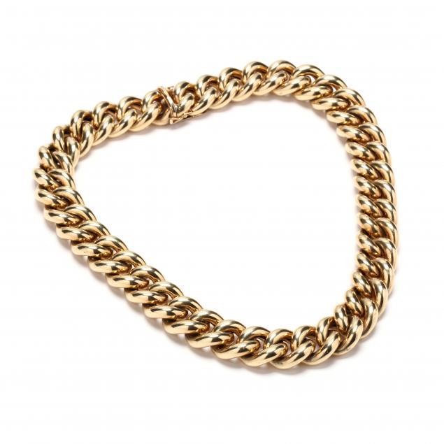 14kt-gold-link-necklace-austria