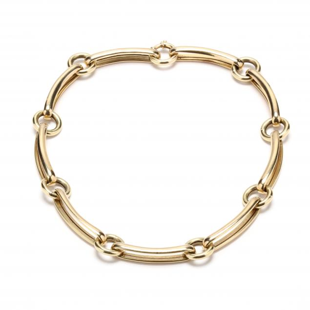 14kt-gold-link-necklace-italy