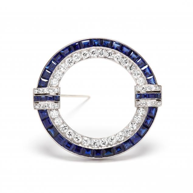 art-deco-platinum-diamond-and-sapphire-brooch-bailey-banks-biddle