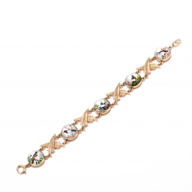 14kt-gold-reverse-painted-rock-crystal-bracelet-signed