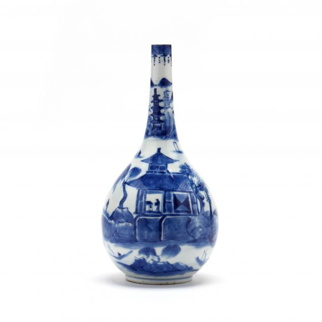 a-chinese-blue-and-white-porcelain-bottle-vase