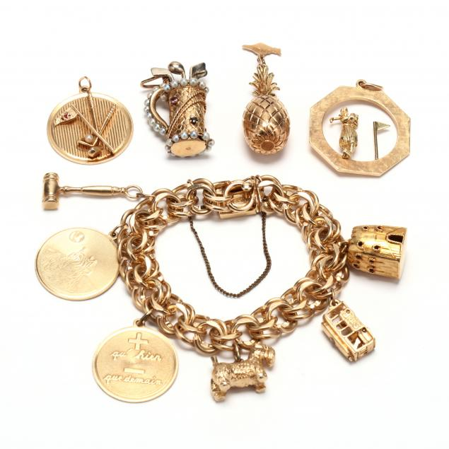 gold-charm-bracelet-and-charms