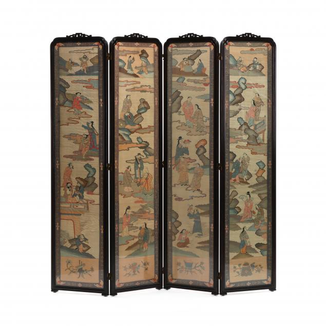 a-chinese-four-panel-wooden-screen-with-kesi-panels