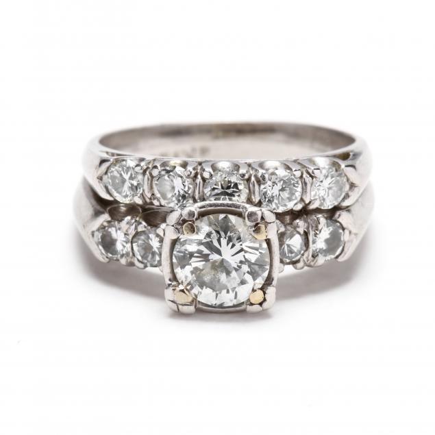 unmounted-diamond-with-vintage-platinum-and-diamond-mount-and-diamond-band