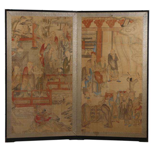 an-unusual-japanese-two-panel-folding-screen