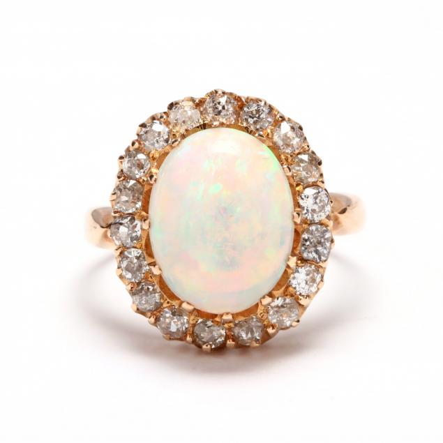 vintage-gold-opal-and-diamond-ring