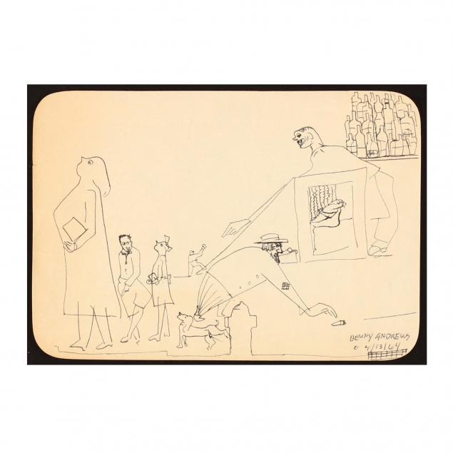 benny-andrews-ny-ga-1930-2006-untitled