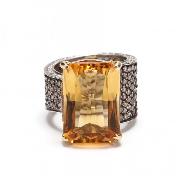 14kt-bi-color-gold-citrine-and-diamond-ring