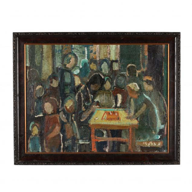 aharon-giladi-israeli-1907-1993-chess-players-in-the-kibbutz