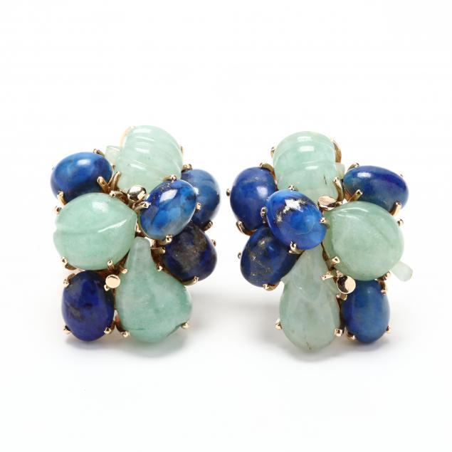 14kt-gold-and-multi-gem-stone-earrings
