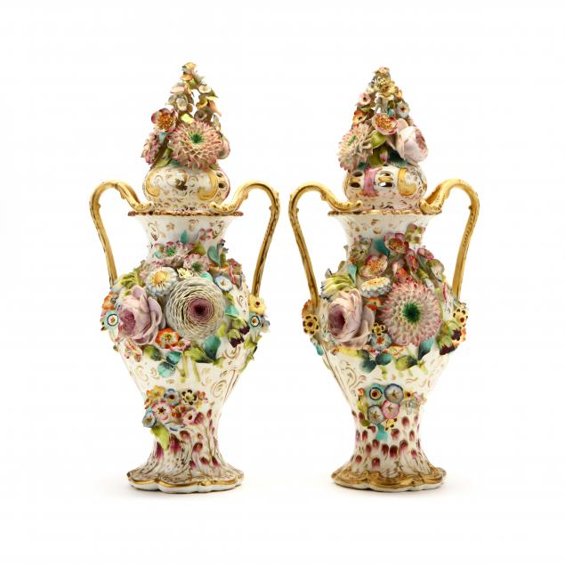 a-pair-of-english-flower-encrusted-potpourri-vases-with-covers