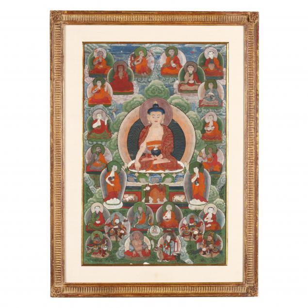 a-tibetan-thangka-of-shakyamuni-buddha
