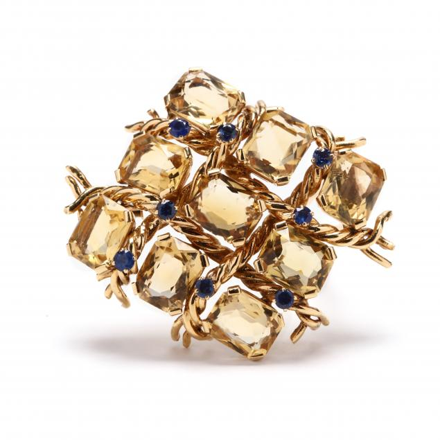 18kt-gold-citrine-and-sapphire-clip-brooch-french