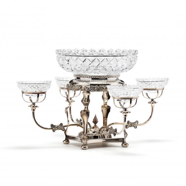 a-georgian-style-silverplate-cut-glass-epergne