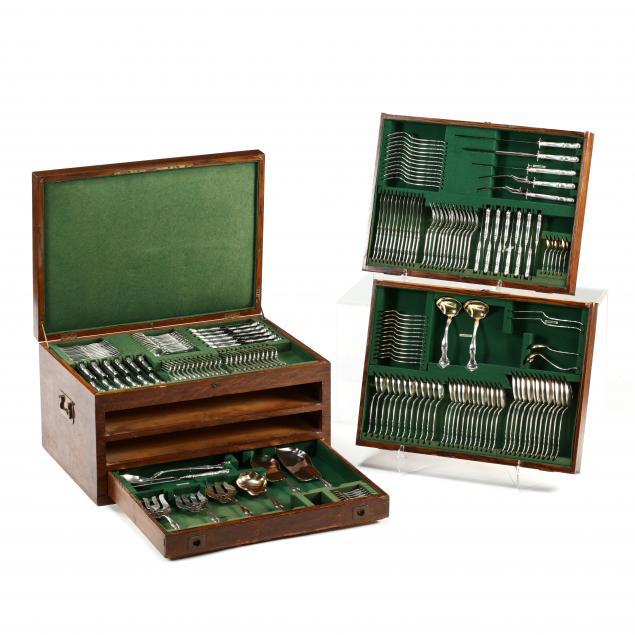 gorham-cromwell-sterling-silver-flatware-service-in-original-oak-case