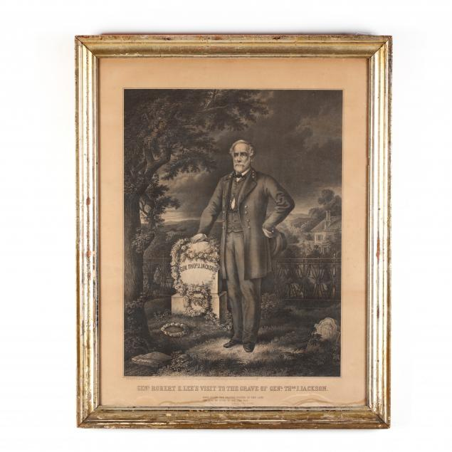 rare-christian-inger-lithograph-of-general-lee-at-stonewall-jackson-s-grave